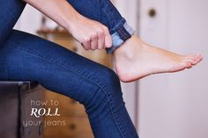 how-to-roll-jeans according to the shoes