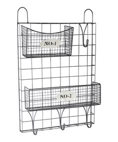 Loving this Wire Wall Storage & Baskets on #zulily! #zulilyfinds