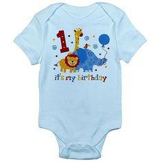 CafePress Newborn Baby Safari 1st Birthday Bodysuit