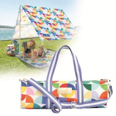 Sunny Jim Copacabana Circles sunshade with yoga bag.jpg