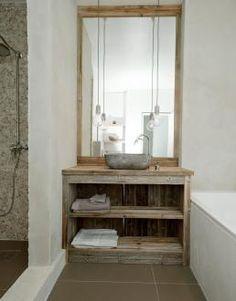 Hyttebad laget av gamle låveplanker, drivved.no