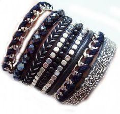 *LOVE IBIZA* Armband XL black magic
