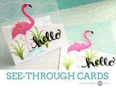 Hero Arts Color Layering Flamingo See Through Card Video by Jennifer McGuire Ink