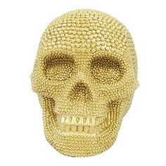 Halloween Spooky Gold Skull