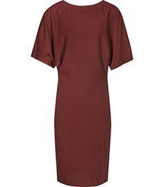 True Juniper High-neck Draped Dress - REISS