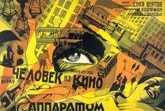 """Плакат к/ф Дзиги Ветрова """"Человек с киноаппаратом"""""""