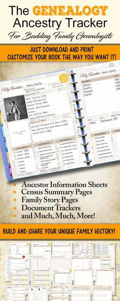 64 New Ideas family history projects genealogy Family Tree Book, Family Tree Chart, Family History Book, History Books, Family Trees, Printable Family Tree, Book Tree, Family Tree Projects, Family Tree Layout