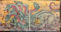 #hydra #mythomorphia #kerbyrosanes #fcpolychromos #adultcoloringbook