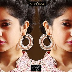 For the bold and beautiful ! #Siyora #Jewellery #Rosegold #earrings #earringsfashion #earringsforsale #bollywoodfashion #partywear #designer #beautyblog #delhifashionblogger #danglers #fashionearrings #fashionjewelry #fashionaccessories #accessories #americandiamond #diamond #December #newyeareve #conceptjewellery #contemporary  #indian #onlineshopping #onlinestore #onlinejewellery