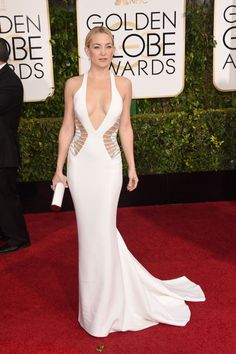 So obsessed with Kate Hudson's gown! #GoldenGlobes