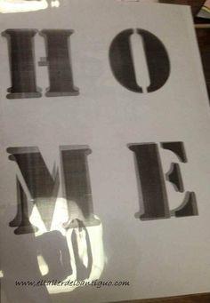 Tutorial: Como hacer plantillas de letras para pintar en cualquier superficie y que nos sean útiles para futuros trabajos. Necesitamos: -Alfombrilla de cor