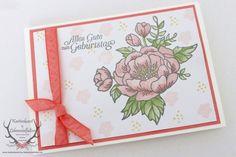 Geburtstagskarte mit dem Stampin' Up! Stempelset Geburtstagsblumen