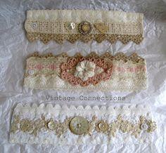 Vintage Connections: fabric cuff bracelet