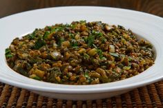 Palak dal is an Indian dish consisting of spinach and lentils ... This dish is pretty much just the spinach and lentils along with some warm Indian spices and some chili heat. The lentils could be served as a side or as salad or with the addition of some rice or bread it can easily be a main.