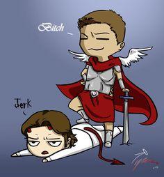 Supernatural - Sam & Dean/Michael & Lucifer artwork