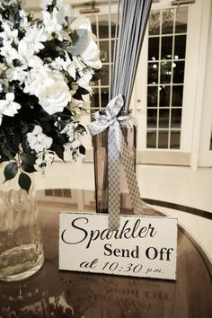 Sparkler Send Off..Wedding Signs..Table Sign, Bride and Groom Send Off..Distressed/Aged wood... on Etsy, $38.95