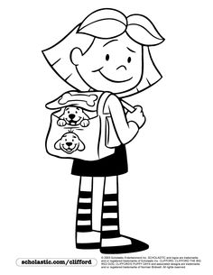 field trip coloring page - 1000 images about preschool clifford and george on