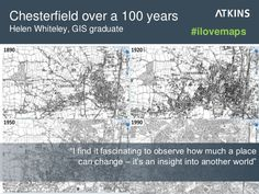 "Chesterfield over a 100 years: ""I find it fascinating to observe how much a place can change – it's an insight into another world"" #ilovemaps"