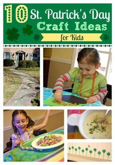 10 St. Patrick's Day Crafts for Kids -- so much fun!