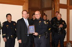 """SFPD Chief Suhr Receives Award Recognizing """"AVOID THE 8"""" as Best in California.    In a ceremony at 10 a.m. Tuesday, Aug. 9, in San Francisco City Hall's Room 201, Director Christopher J. Murphy of the California Office of Traffic Safety presented a plaque to SFPD Chief Greg Suhr recognizing the City's Avoid the 8 campaign as the best multi-jurisdictional police effort in California."""
