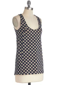 Must Be Loveable Top. As soon as you donned this Effies Heart tank top, you knew it was something special! #blue #modcloth