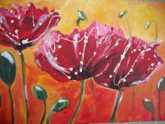 Red Poppies - Acrylic on canvas