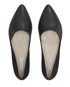 7d723e8a6a Buy Jigsaw Clara Leather and Suede Pointed Ballerina Shoes, Black from our  Womens Shoes, Boots & Trainers range at John Lewis & Partners.