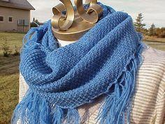 Machine Knit Whisper Cowls w/ fringe (std and bulky both)