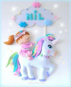 unicorn, unıcorn horse, bebek kapı süsü, at, atlı kapı süsü, felt, door wreath, fetro, bebek kapı süsü, bebechocolate, фетр, единорог, панно, лошадка, handmade doll, handmade doll, felt horse