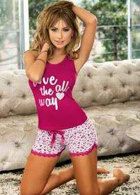 PIJAMAS y PIJAMAS NOCHES DE LUNA: COLECCIÓN ETERNA PRIMAVERA Cute Sleepwear, Lingerie Sleepwear, Nightwear, Pajama Outfits, Girl Outfits, Cute Outfits, Fashion Outfits, Cute Pjs, Cute Pajamas