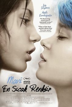 Mavi En Sicak Renktir - La vie d'Adele - 2013 - BDRip Film Afis Movie Poster