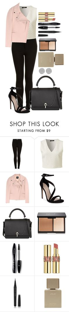 """Untitled #1397"" by fabianarveloc on Polyvore featuring Topshop, McQ by Alexander McQueen, Carvela, Carven, Lancôme, Yves Saint Laurent, Marc Jacobs, Karen Kane, women's clothing and women"