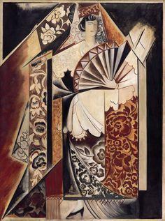 Наталья Сергеевна Гончарова Испанка с веером   1920-е  • Масло, Холст