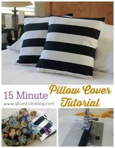 15 Minute Pillow Cover Tutorial. One of the easiest ways to change up your home decor is by changing up your pillows!