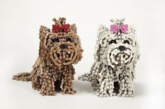 Unchained, is a collection of real-size dogs sculptures, made out of recycled bicycle parts, mostly chains.By Nirit Levav