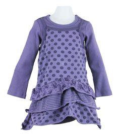 layered look jazzy spot ballerina dress