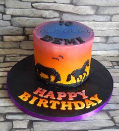 Sunset & horses gluten free cake
