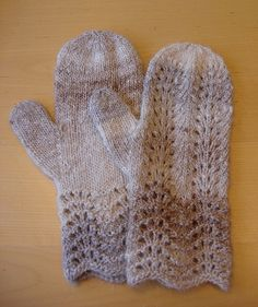 Free Knitting Pattern - Adult Gloves & Mittens: Oyster Mittens