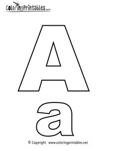 Alphabet Letter A Coloring Page - A Free English Coloring Printable