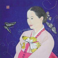 Beauty , figure painting , color 한국의 미ᆞ인물화ᆞ 채색
