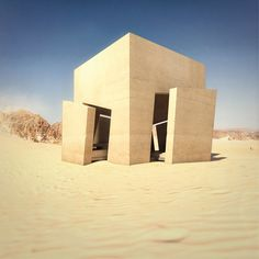 Image 2 of 7 from gallery of Christophe Benichou Architecture Designs Minimalist Desert Residence. Courtesy of Christophe Benichou Architecture Stairs Architecture, Concept Architecture, Architecture Design, Landscape Architecture, Minimalist Architecture, Minimalist Design, Rainy Wallpaper, Archdaily Mexico, Rammed Earth Homes