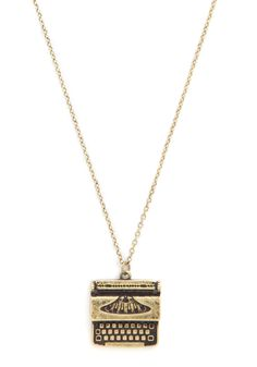 Live Up to the Type Necklace. Classmates are passing notes and friends are posting blog entries to spread the word.  #modcloth