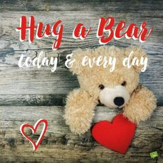 National Hug a Bear Day is celebrated annually on November Below are some fun facts related to this event as well as a brief history behind the occasion. Welcome November, Hello November, Creative Gift Wrapping, Creative Gifts, November Images, Minimal Christmas, Cute Little Boys, Ios Design, Image Fun