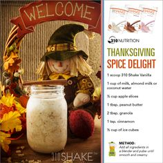 310 Nutrition- Not only for Thanksgiving… Drink anyday. 310 Nutrition- Not only for Thanksgiving… Drink anyday. Yogurt Nutrition, Coffee Nutrition, Nutrition Chart, Nutrition Classes, 310 Shake Recipes, Protein Shake Recipes, Protein Shakes, Smoothie Recipes, Recipes