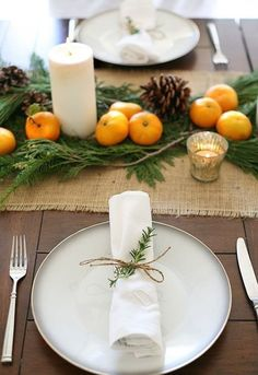 5 Simple Table Settings Using Greens & Candles | Apartment Therapy