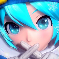 Vocaloid, Miku Chan, Blue Anime, Anime Figurines, Cute Profile Pictures, Project, Cute Icons, Yandere, Doodle Art