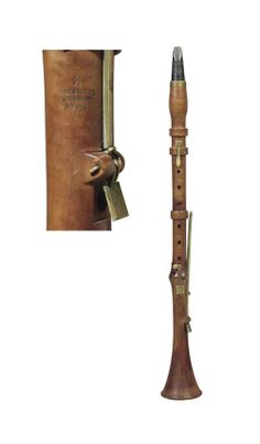 Carl Augustin Grenser's five keyed boxwood clarinet