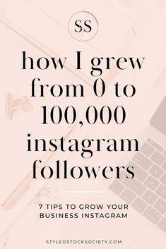 How to Grow Your Instagram Followers - Instagram tips by Styled Stock Society #instagram #instagramtips #socialmedia #socialmediastrategy Digital Marketing Strategy, Content Marketing, Online Marketing, Media Marketing, Marketing Strategies, More Instagram Followers, Get More Followers, Find Instagram, Instagram Tips