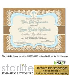 navy gold glitter communion invitation printable first communion