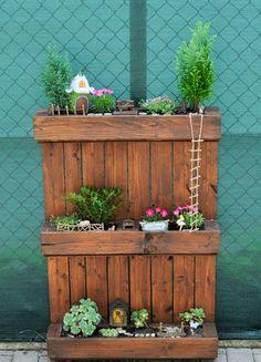 Fairy garden in wood pallet / tündérkert raklapban